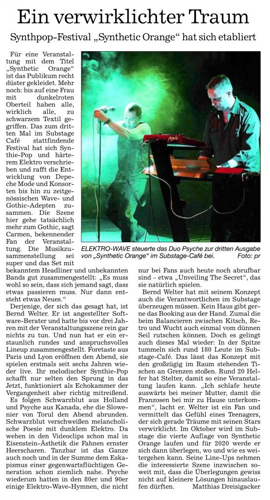 Review in den Badischen Neuesten Nachrichten vom 15.4.2019